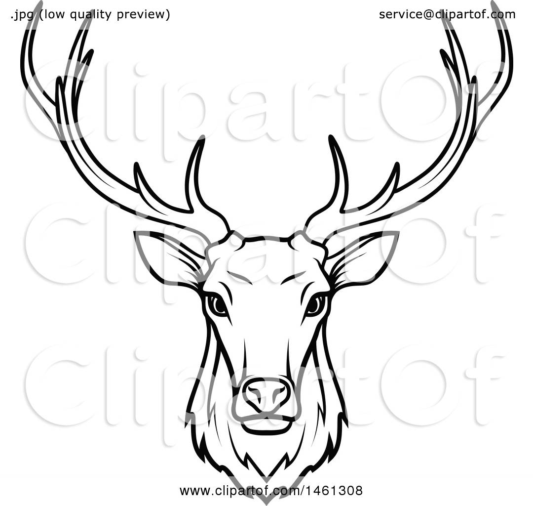 White Reindeer Antlers Transparent Background