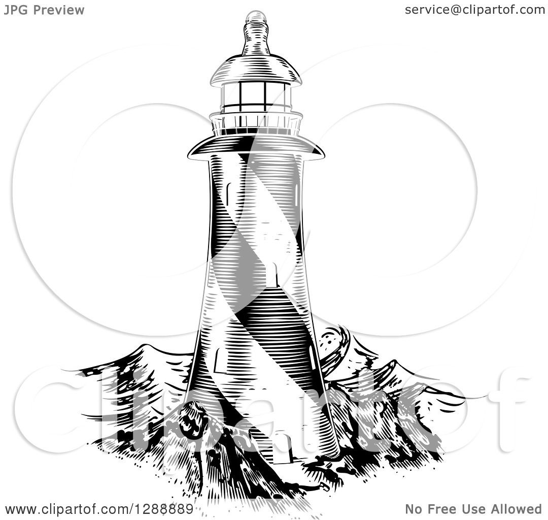 Clipart Of A Black And White Engraved Lithograph