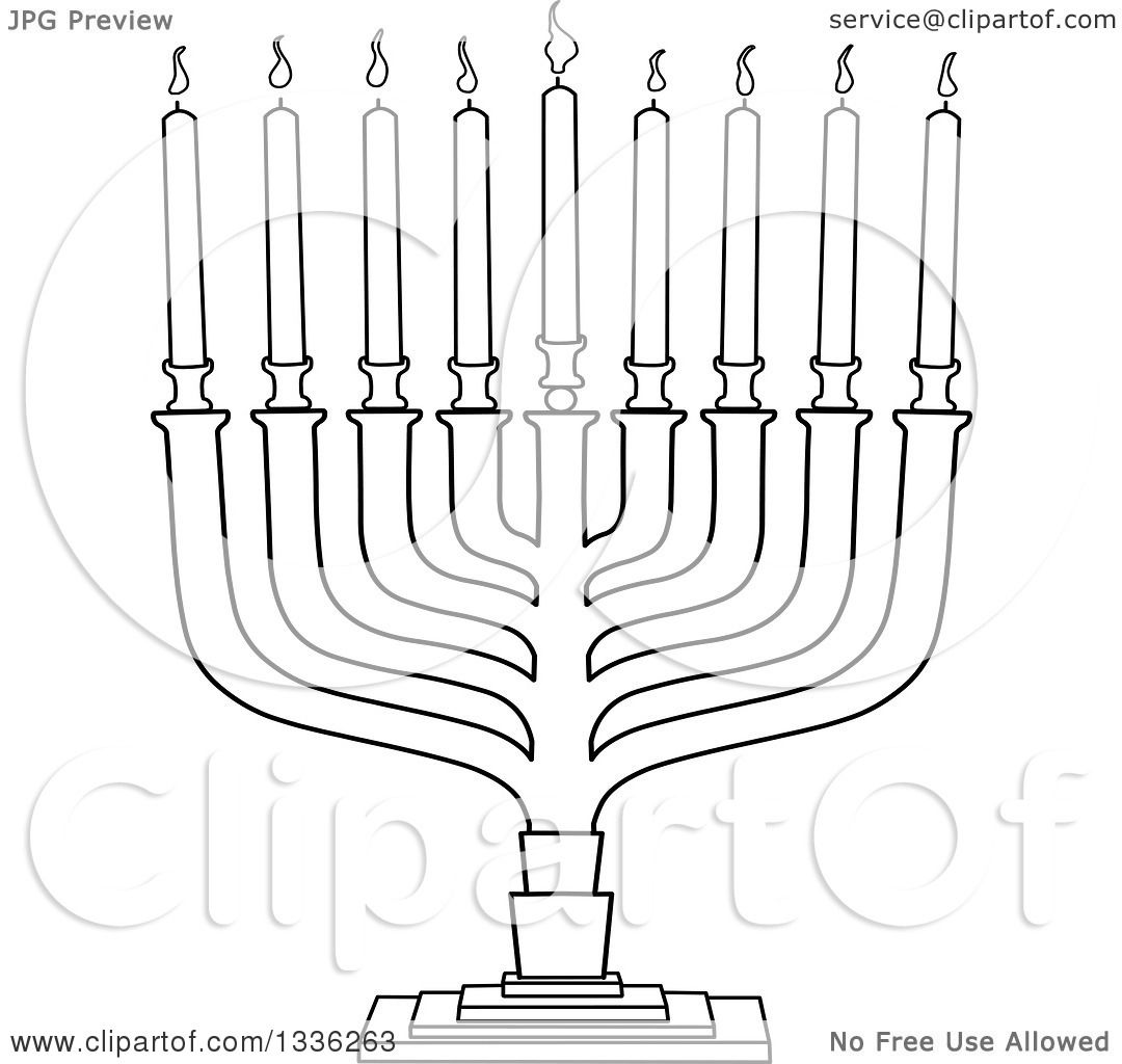 Menorah Clip Art Black And White Cliparts