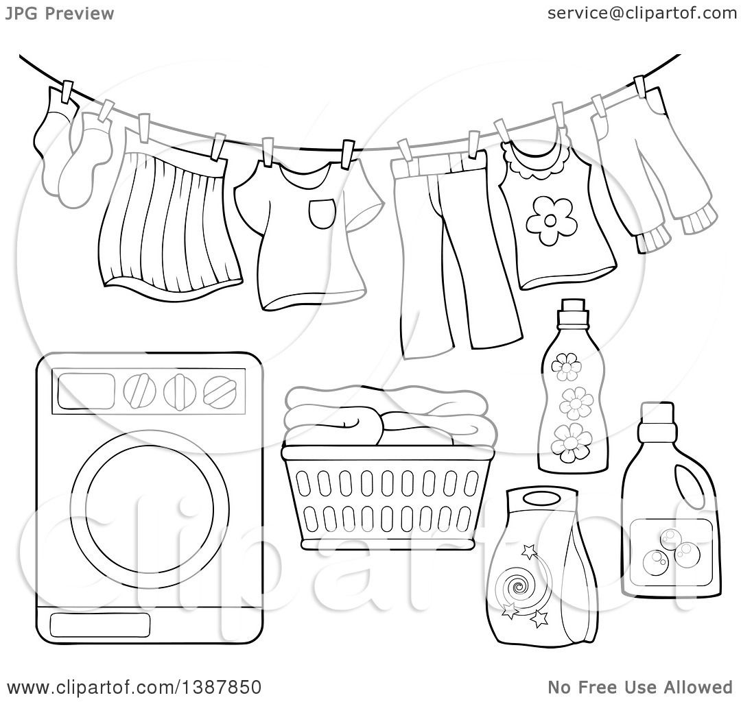 Clothesline Clipart Free Download Clip Art Sketch Coloring