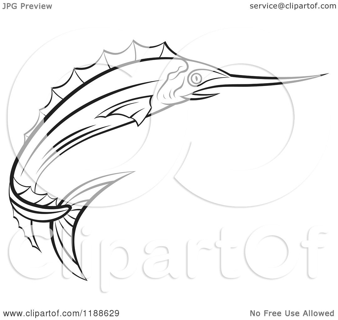 coloring pages of drawing sword fish