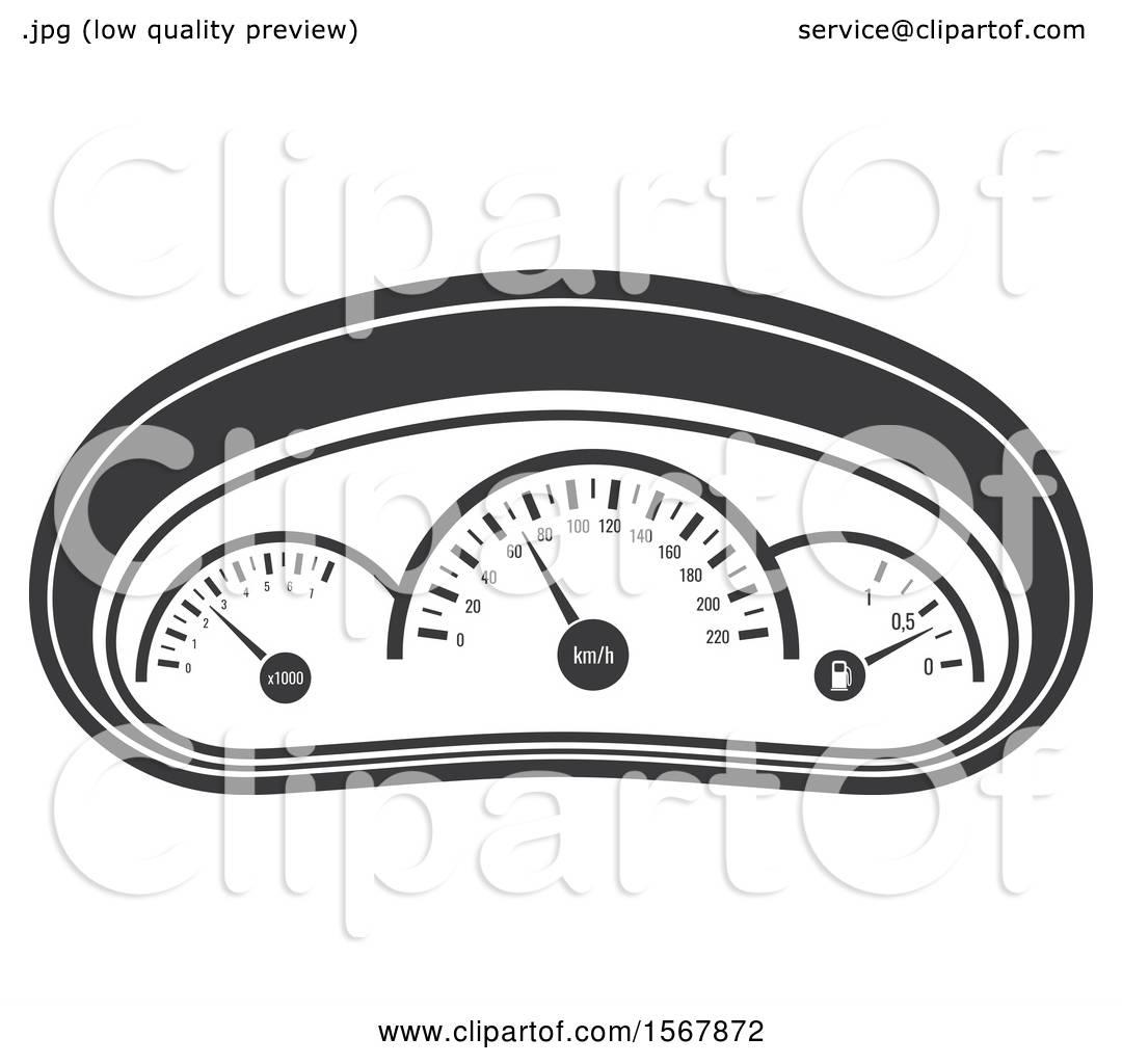 Clipart Of A Car Gauges Automotive Icon