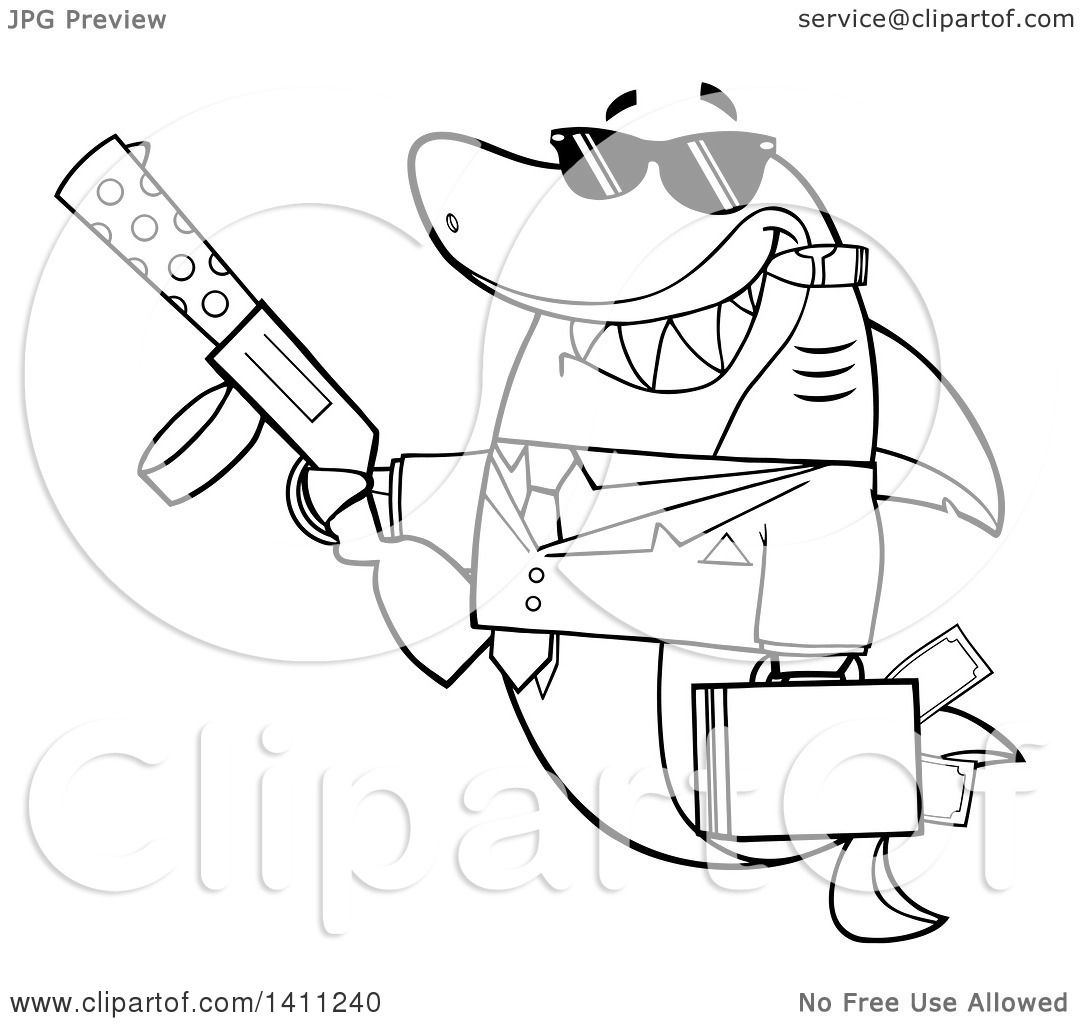 Gangster With Guns Coloring Pages