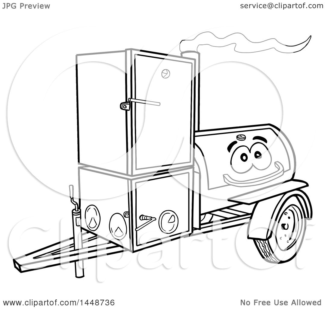 Clipart Of A Cartoon Black And White Lineart Lang Offset