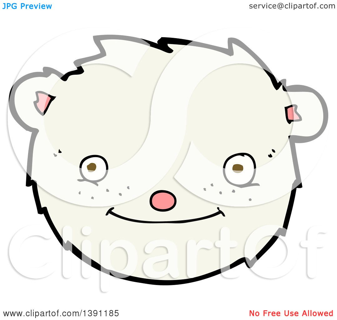 Clipart Of A Cartoon Polar Bear