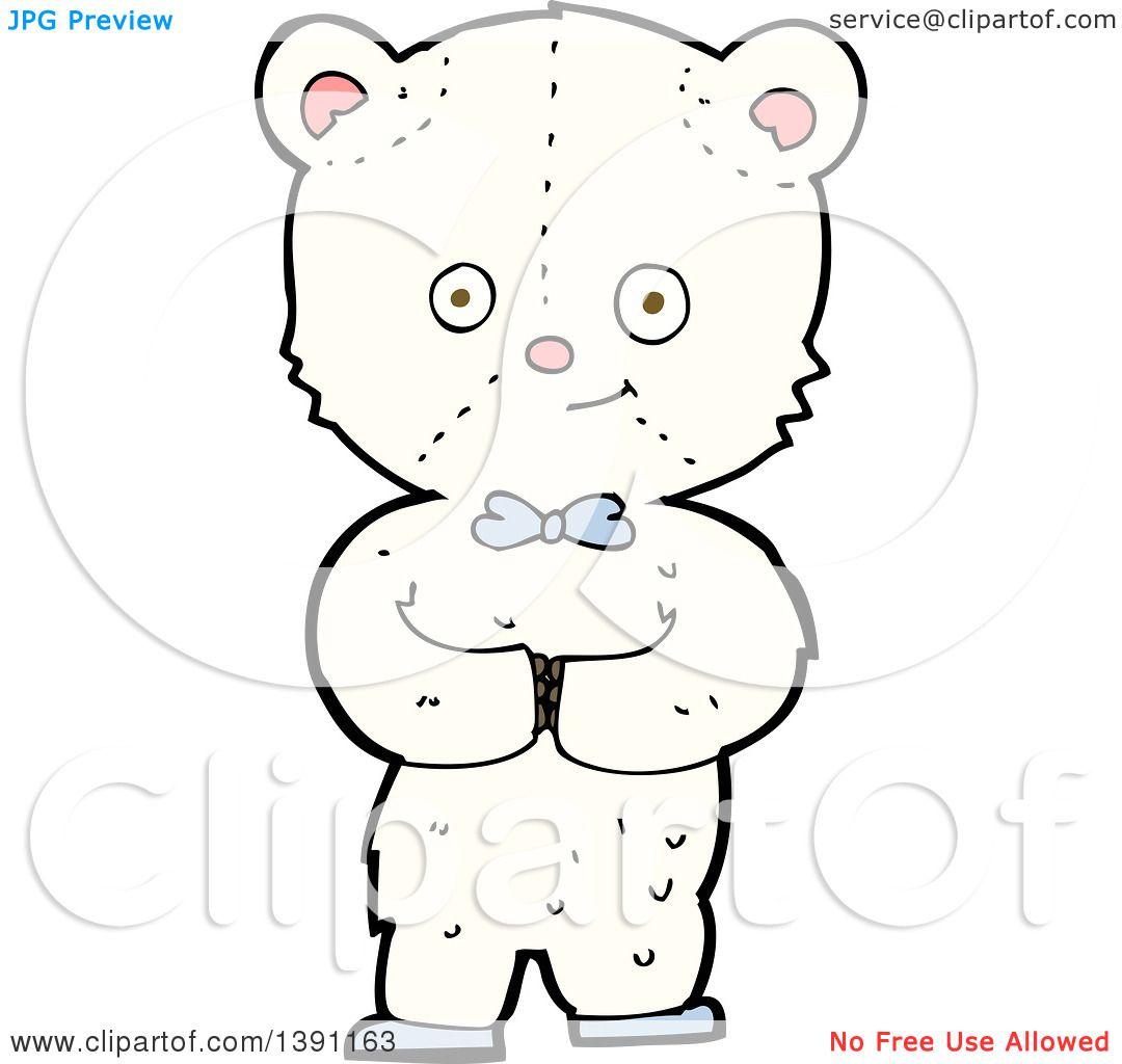 Clipart Of A Cartoon Teddy Polar Bear