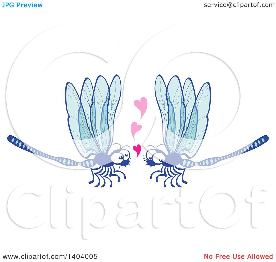 Download Clipart of a Dragonfly Couple in Love - Royalty Free ...