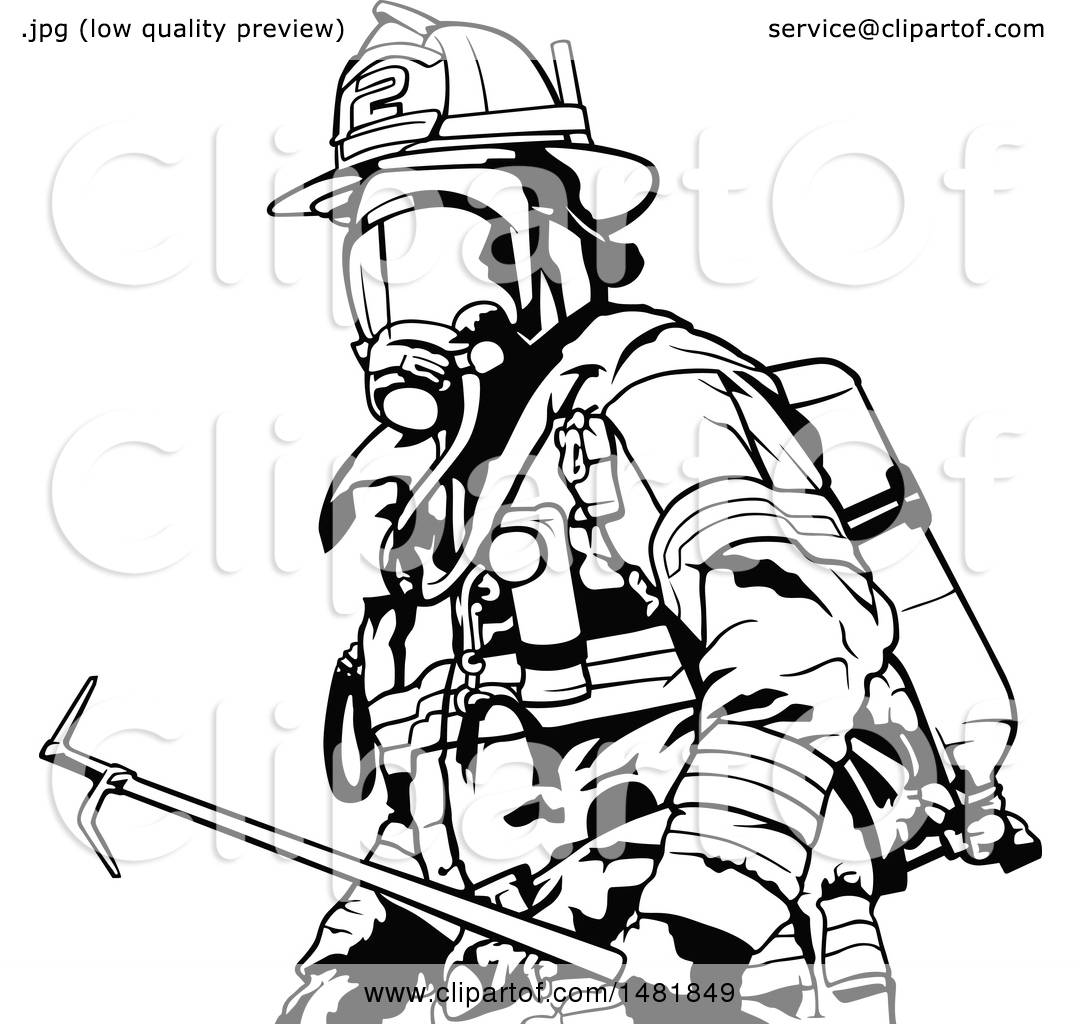 Clipart Of A Fireman