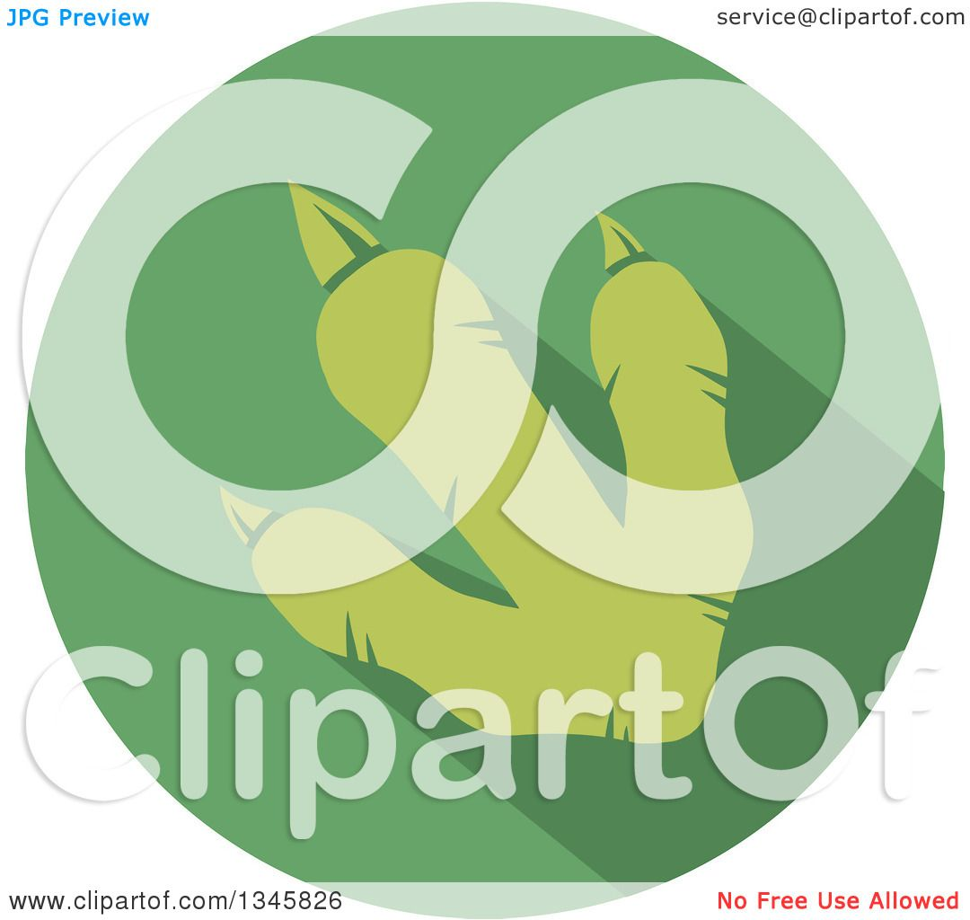 Clipart Of A Flat Design Raptor Dinosaur Foot Print With A