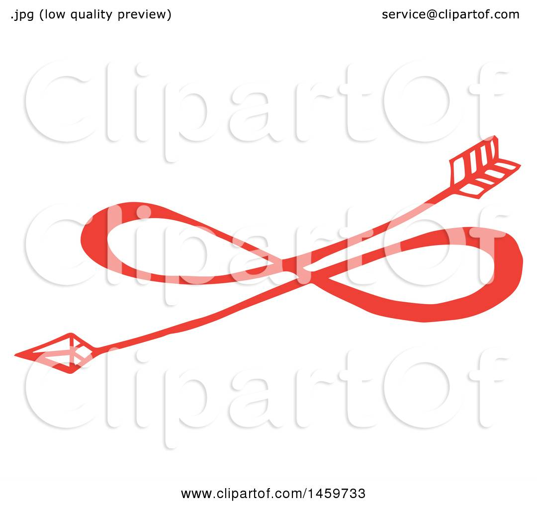 Download Clipart of a Red Eternal Love Infinity Arrow Design ...