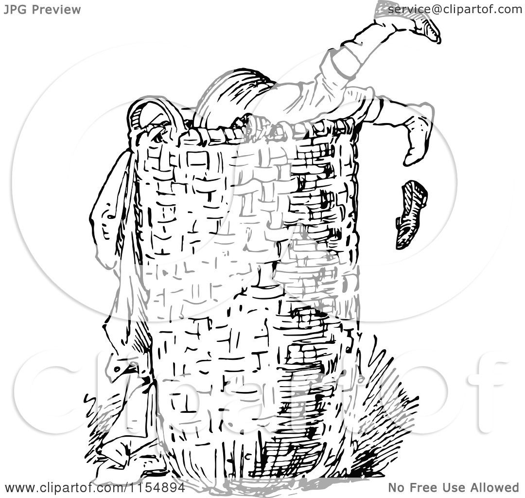 Clipart Of A Retro Vintage Black And White Boy Digging In