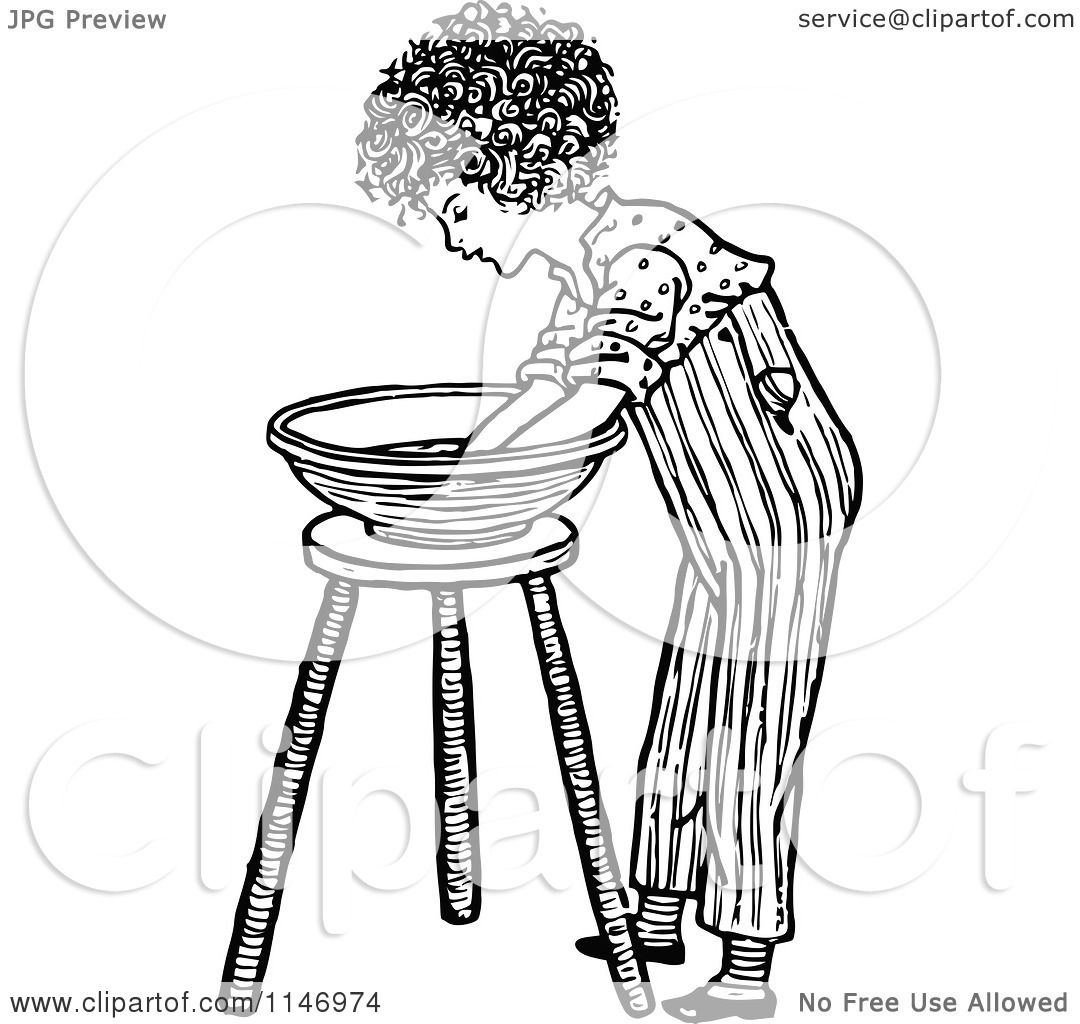 clipart washing hand