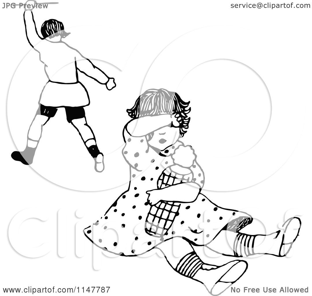 Clipart Of A Retro Vintage Black And White Bully