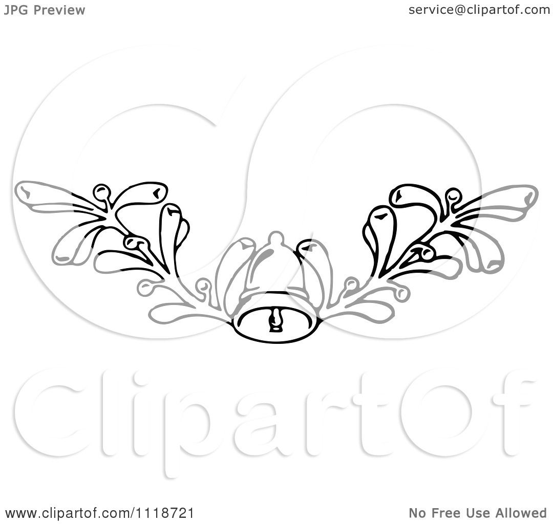 Clipart Of A Retro Vintage Black And White Christmas