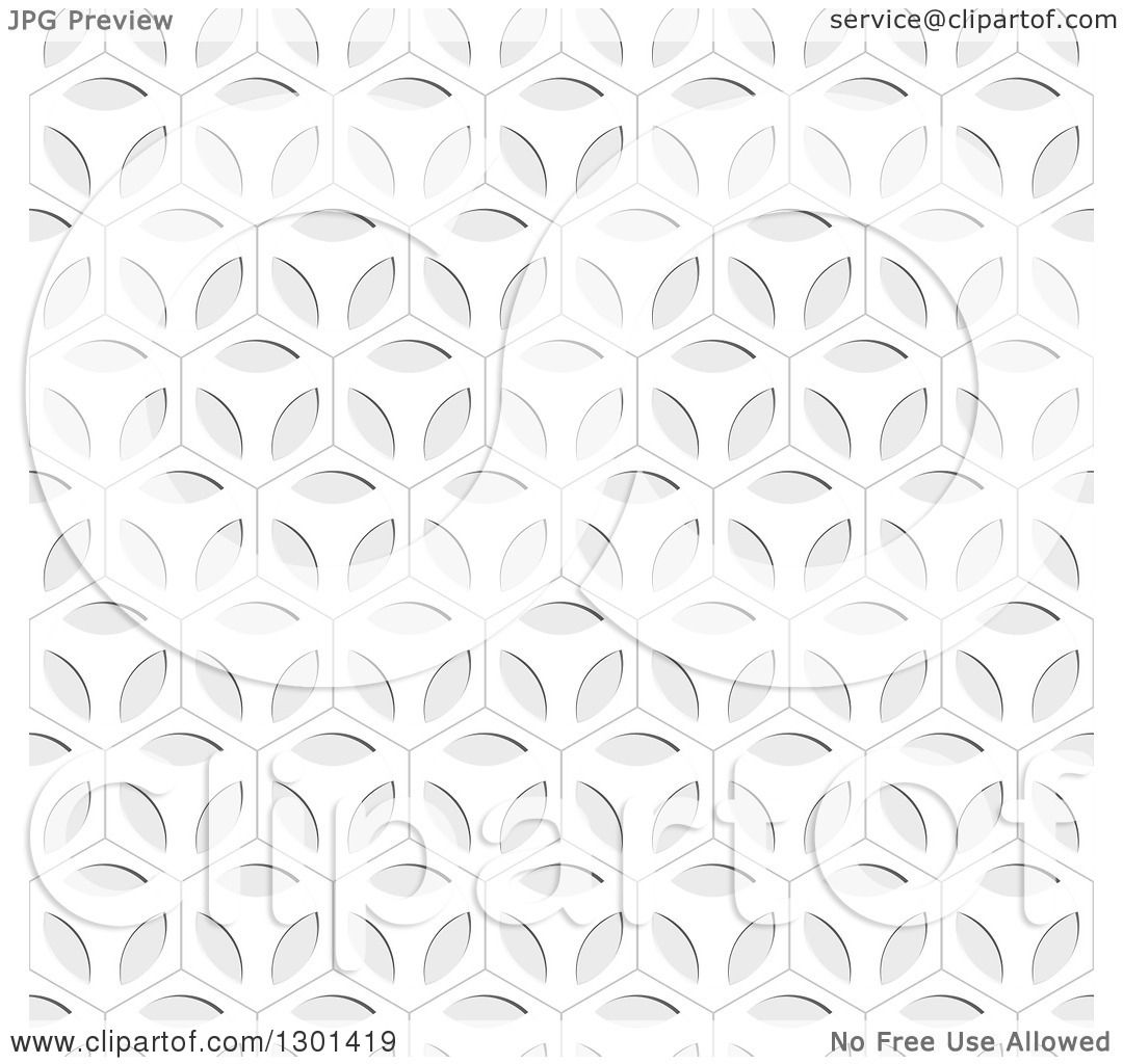 Clipart Of A Seamless Ornate Grayscale Pattern Background