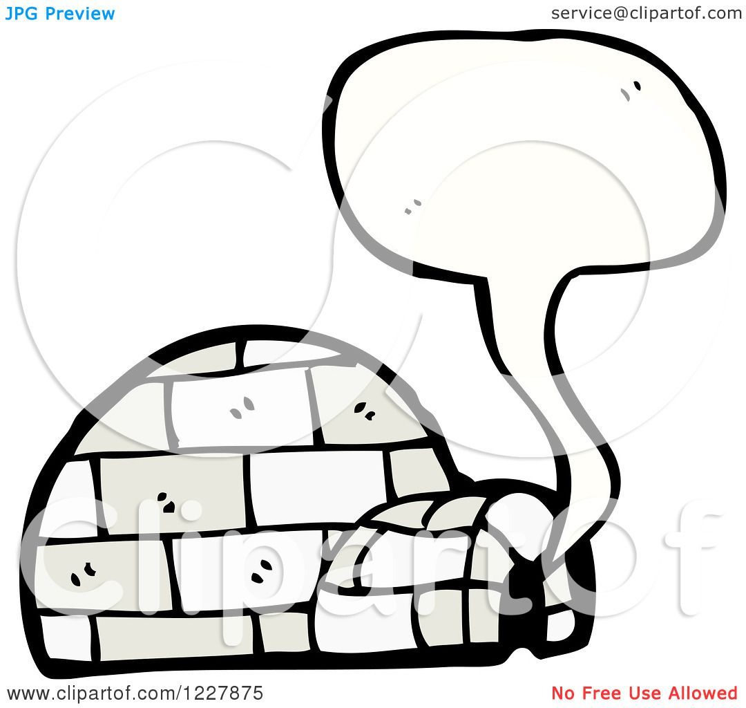 Clipart Of A Talking Igloo