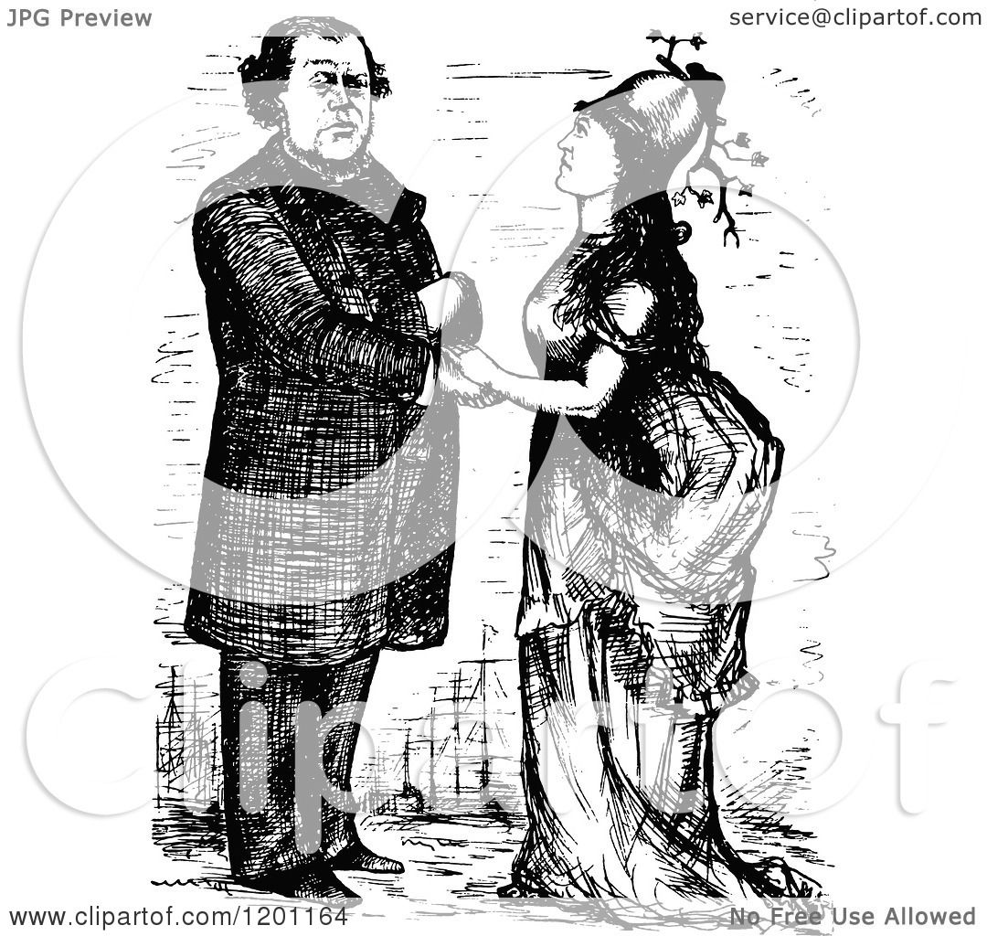Clipart Of A Vintage Black And White Farewell To Punshon