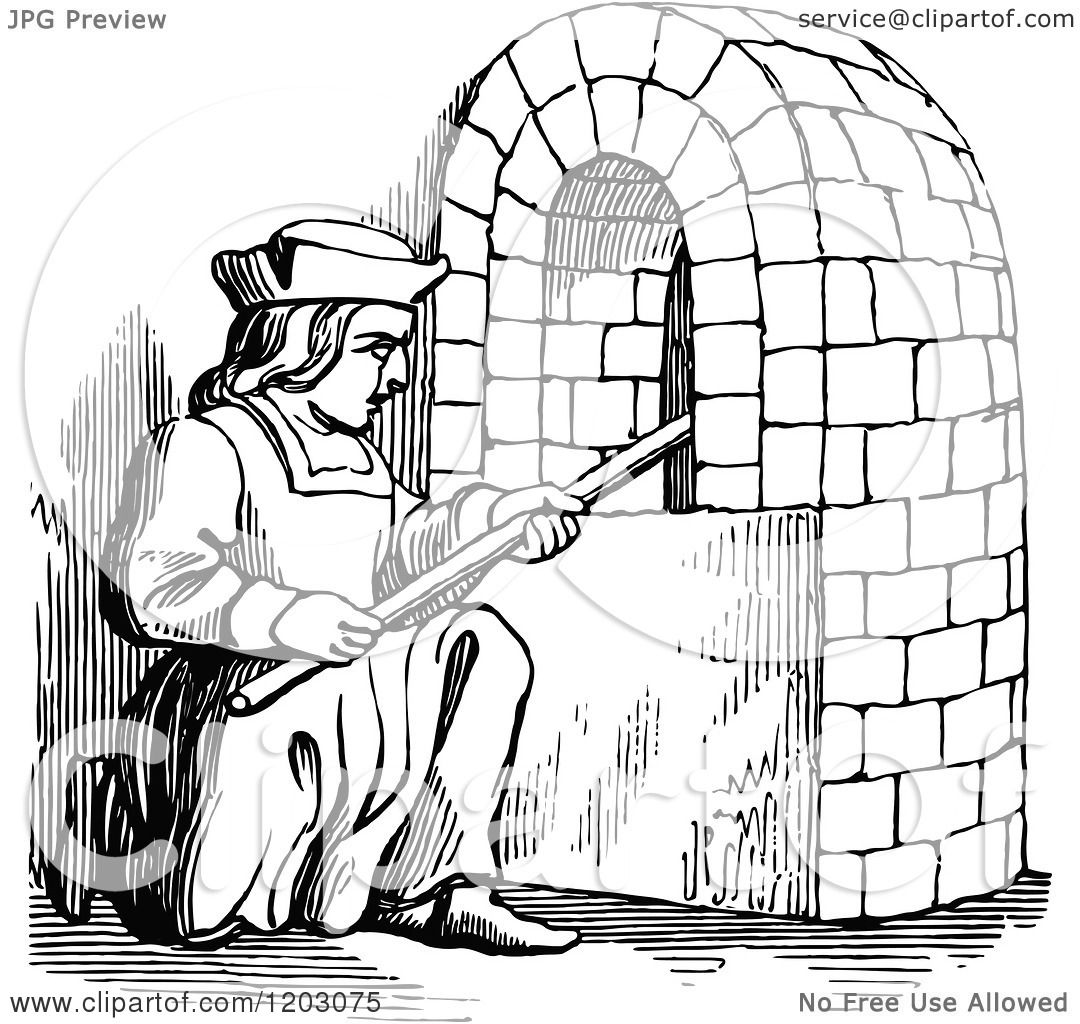 Clipart Of A Vintage Black And White Fifteenth Century
