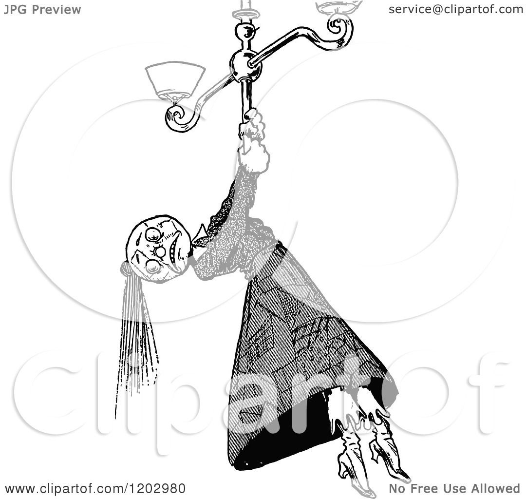 Clipart Of A Vintage Black And White Lost Princess Of Oz Scarecrow