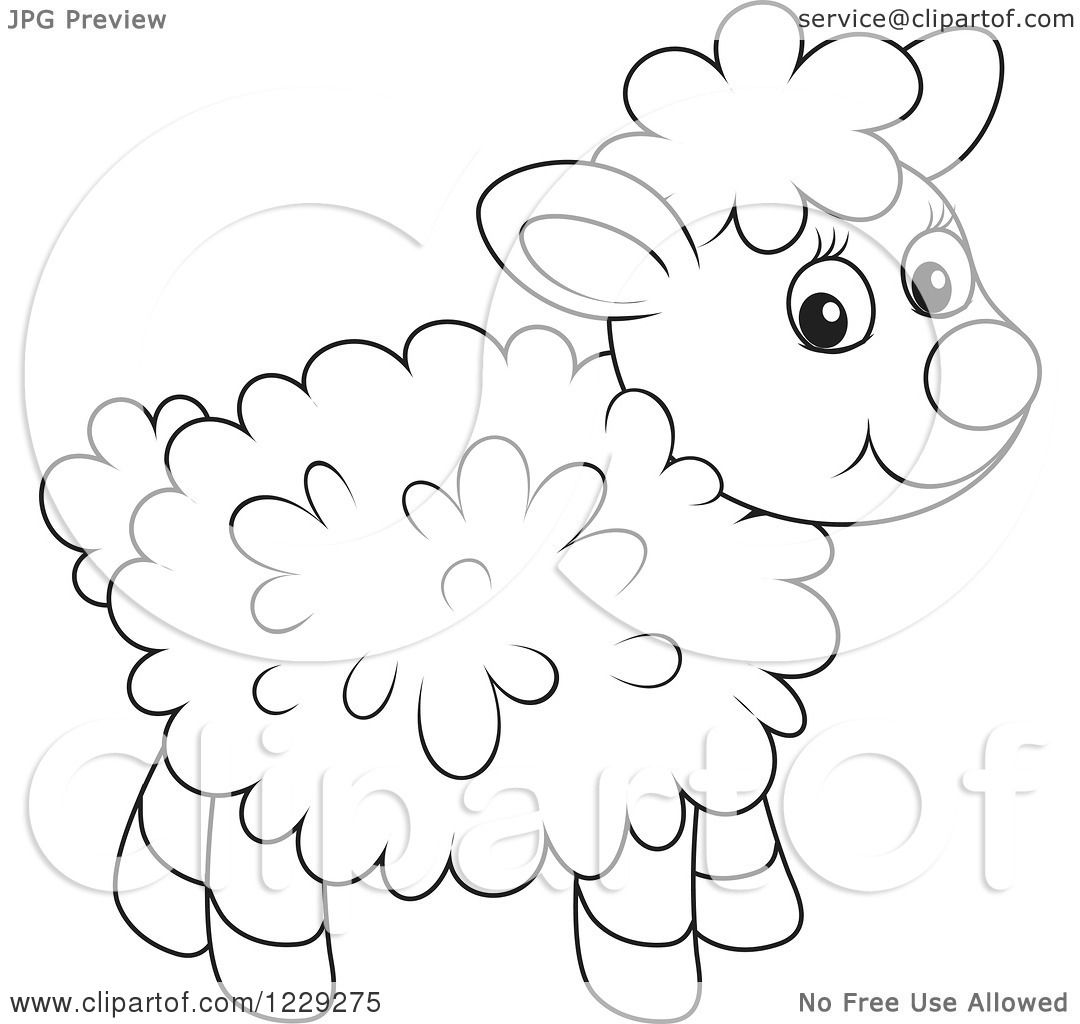 clipart of an outlined