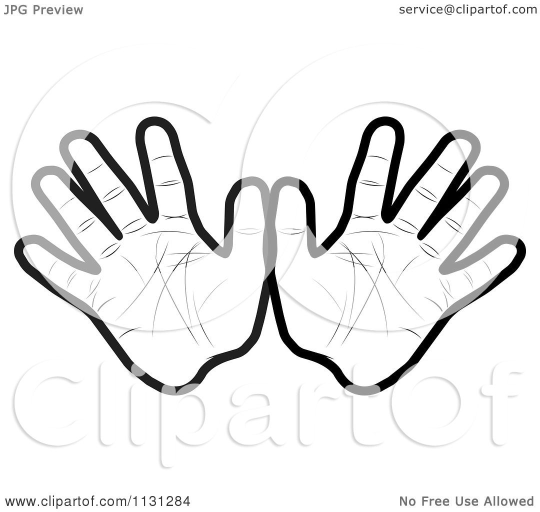 Clipart Of Black And White Hands
