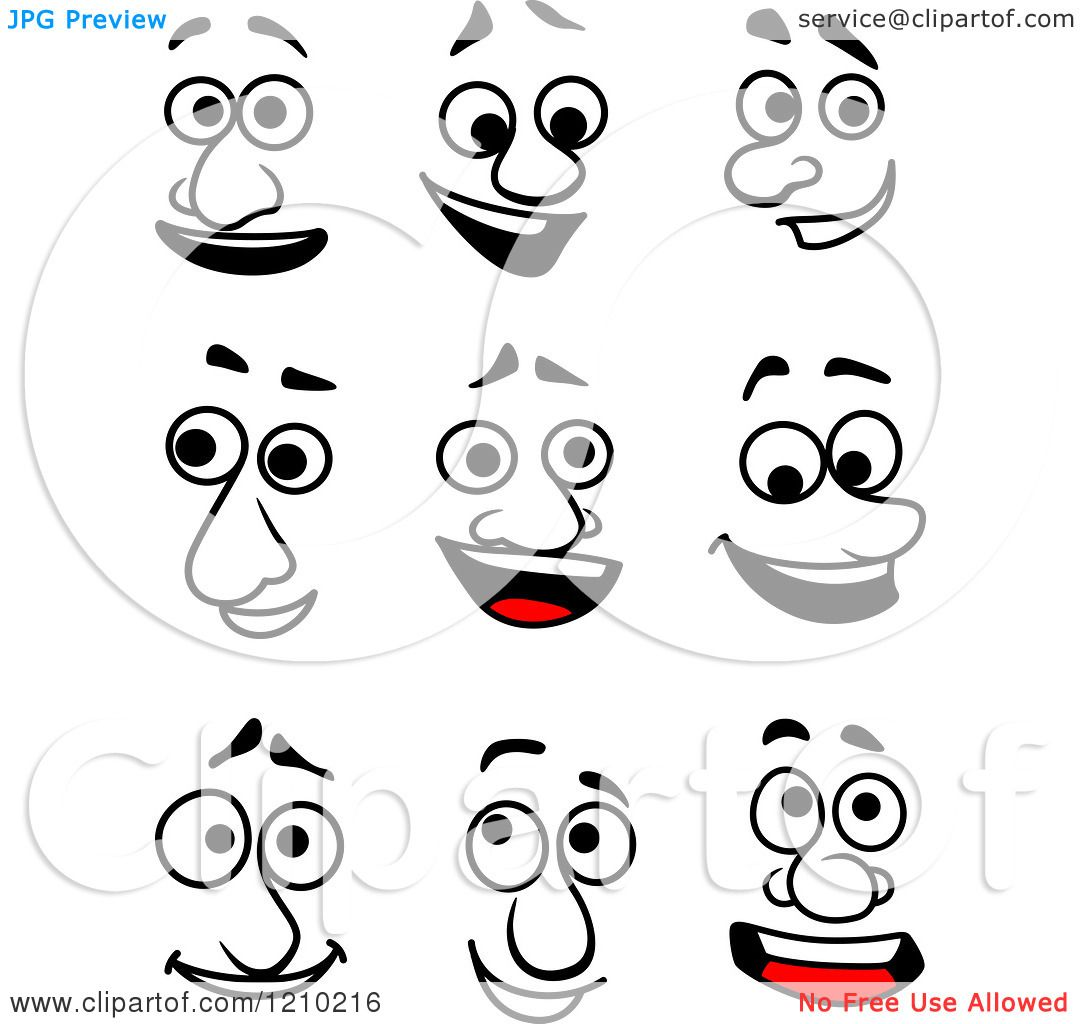 Clipart Of Expressive Faces