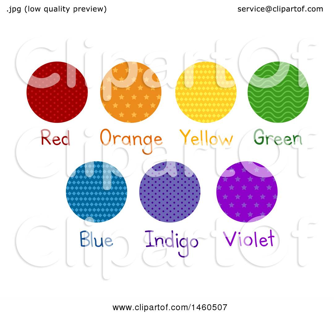 Clipart Of Red Orange Yellow Green Blue Indigo And