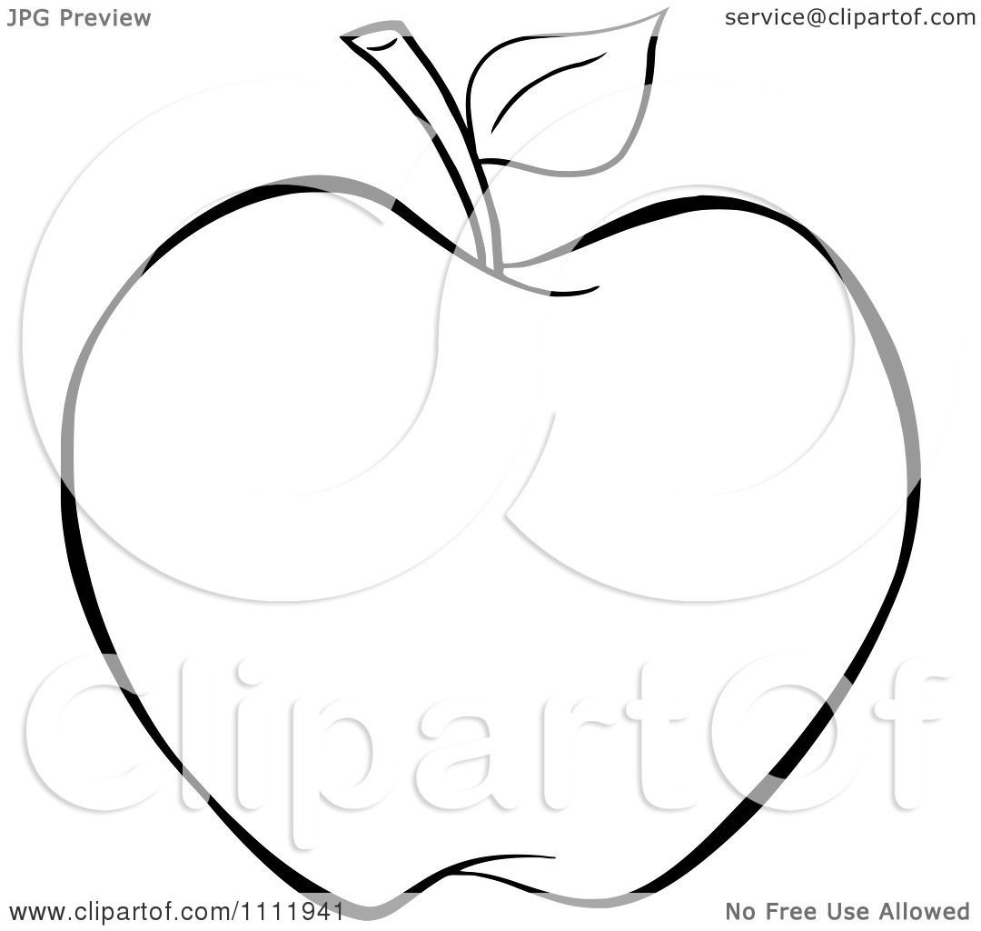 Clipart Outlined Apple