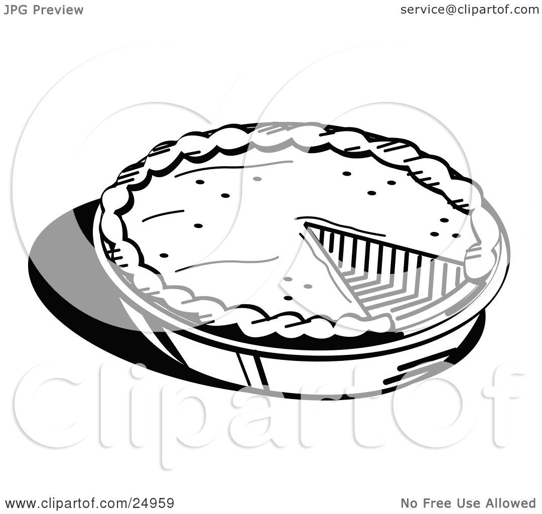 Clipart Picture Of A Freshly Baked Pumpkin Pie In A Pan