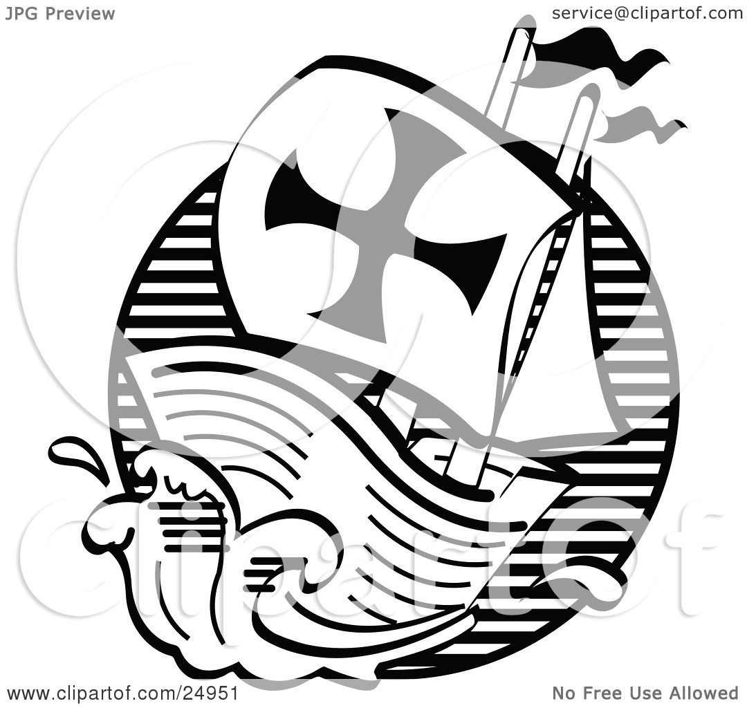 Clipart Picture Of The Mayflower Ship Transporting