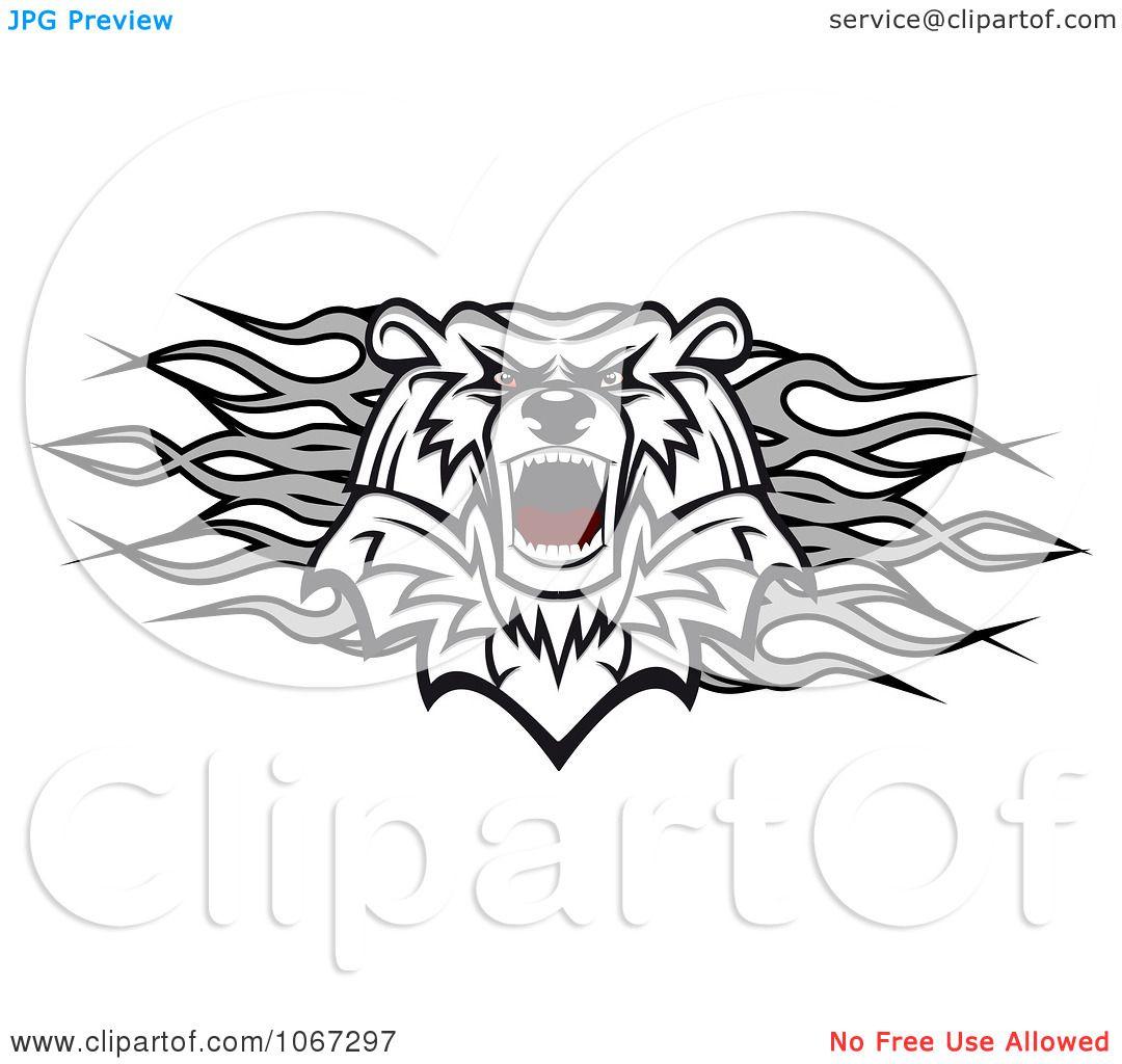 Clipart Polar Bear And Flames Divider
