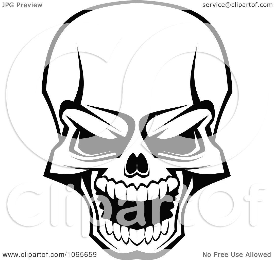 Clipart Scary Skull 3