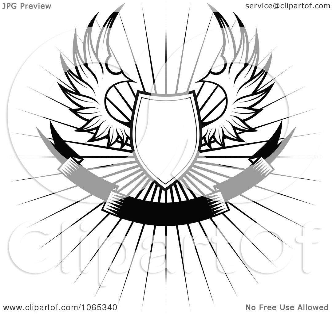 Clipart Shield With Wings 3