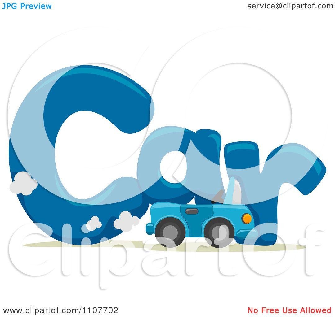 Clipart The Word Car For Letter C