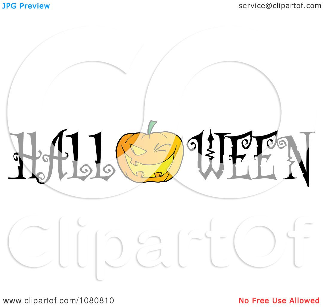 Clipart The Word Halloween With A Jackolantern As The O