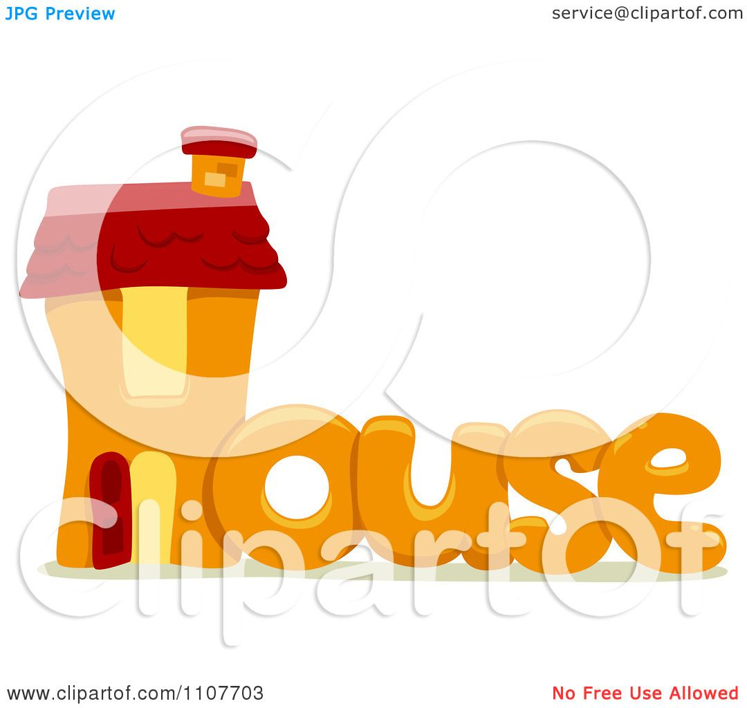 Clipart The Word House For Letter H