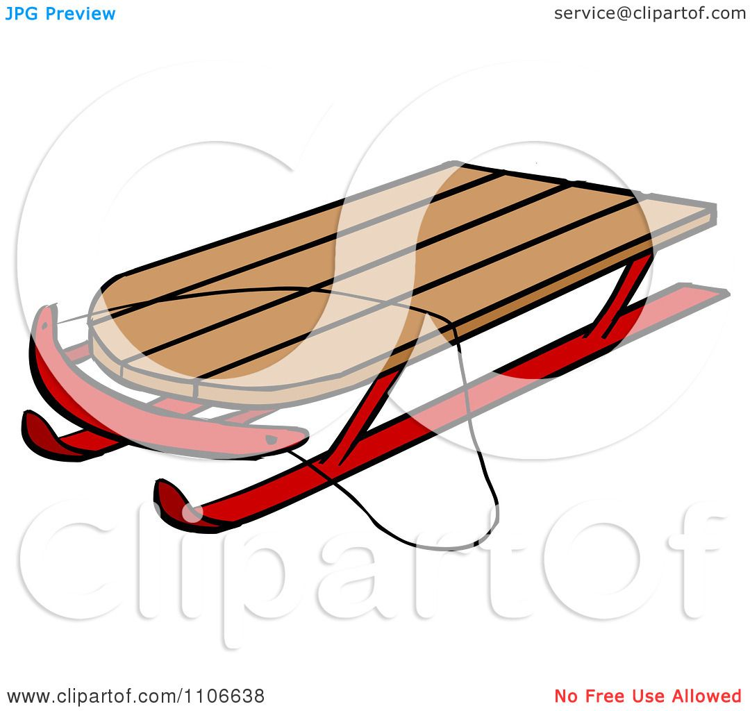 clipart toy sled royalty vector illustration by cartoon