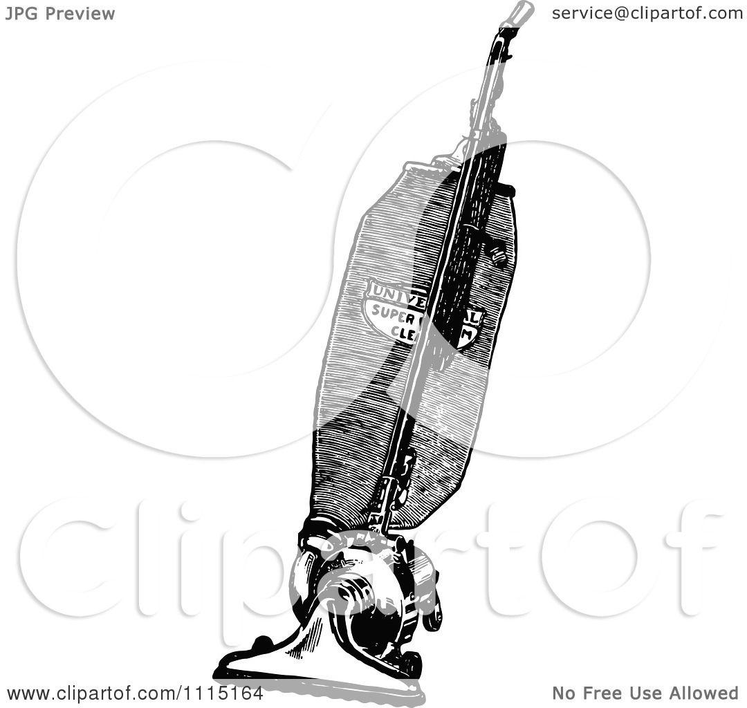 Clipart Vintage Black And White Vacuum