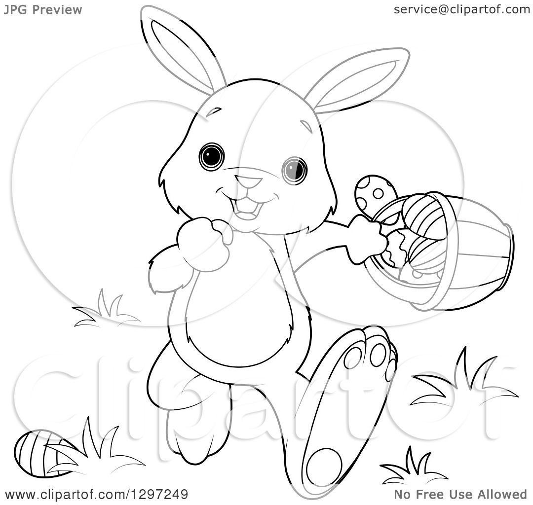Cute Animal Clipart Of An Adorable Black And White White