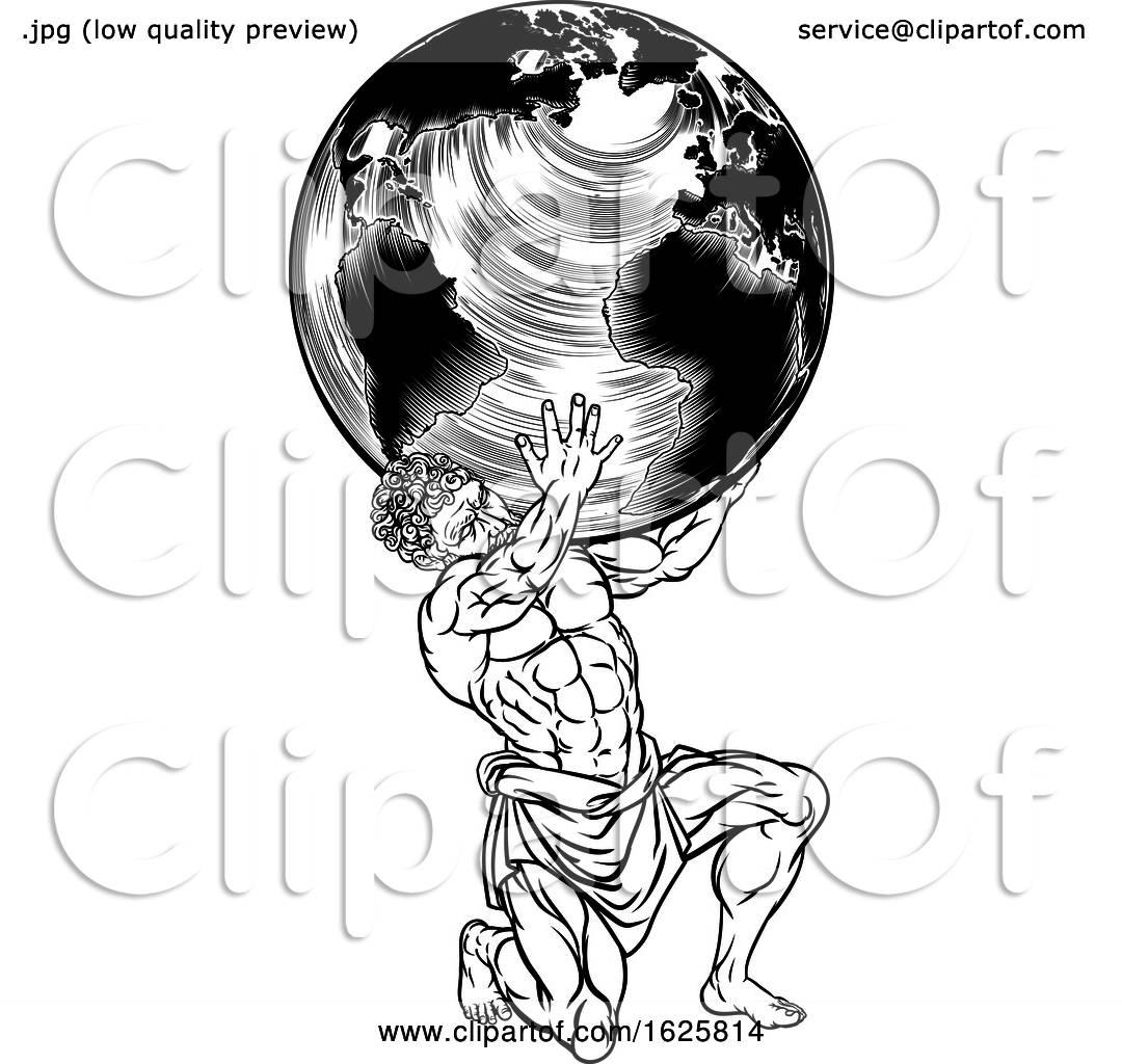 Greek Mythology Atlas Illustration By Atstockillustration