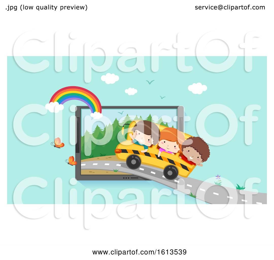 Kids Virtual Field Trip Laptop Illustration By Bnp Design