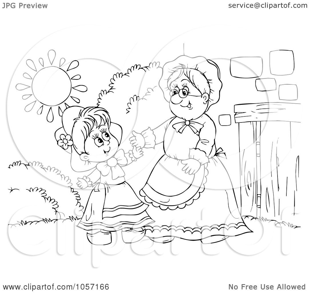 Royalty Free Clip Art Illustration Of A Coloring Page