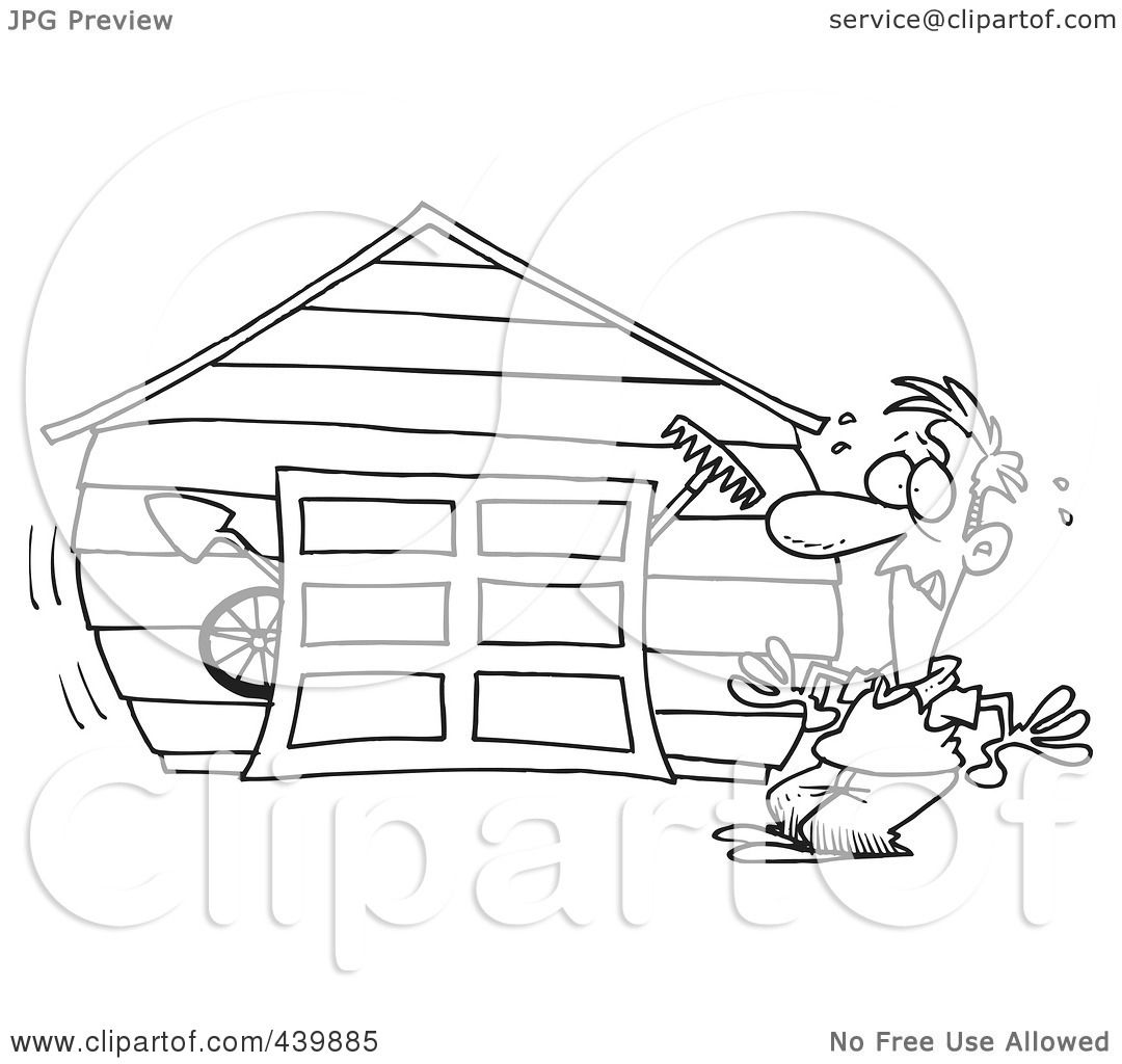 Coloring Pages Of Garage Door Coloring Pages