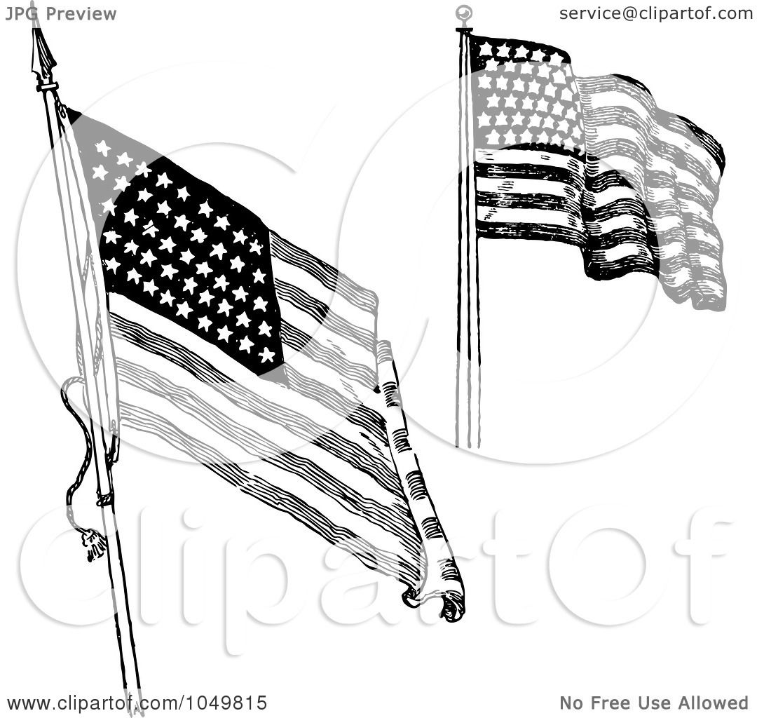 Royalty Free Rf Clip Art Illustration Of A Digital Collage Of Black And White Retro American