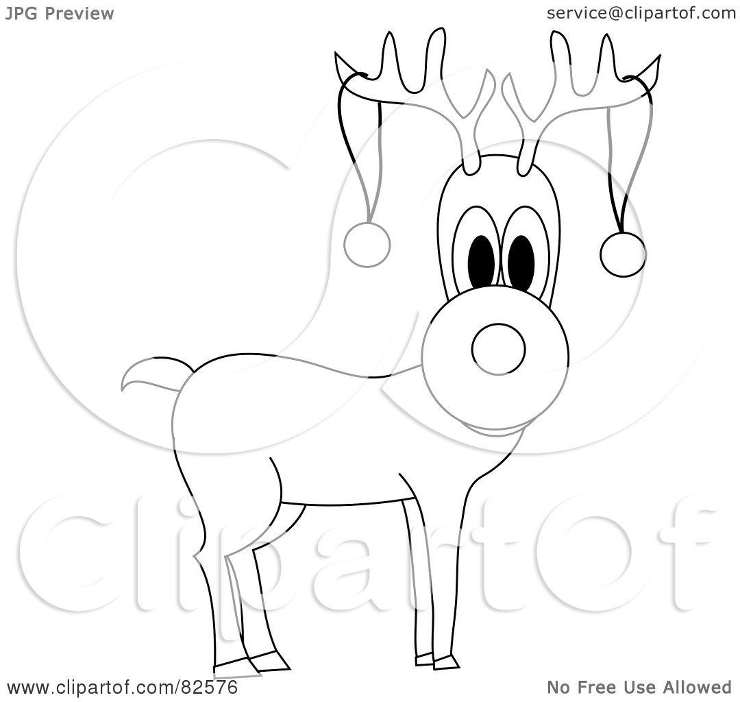 Reindeer Antlers Outline