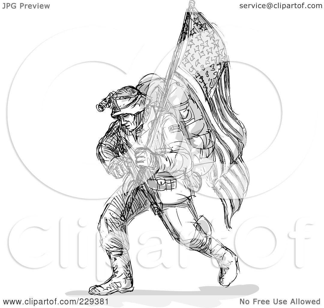 Royalty Free Rf Clipart Illustration Of A Black Sketched