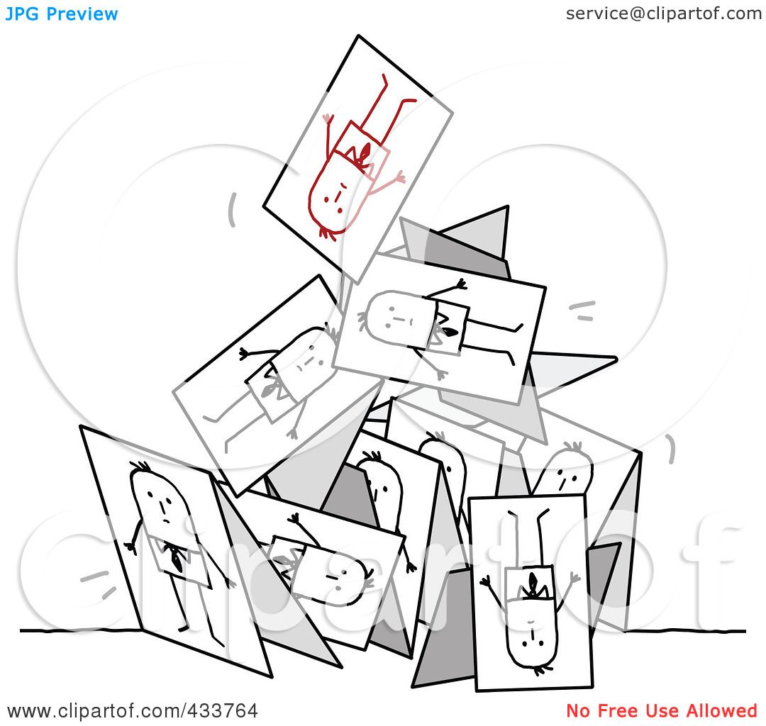 Royalty Free Rf Clipart Illustration Of A Collapsing
