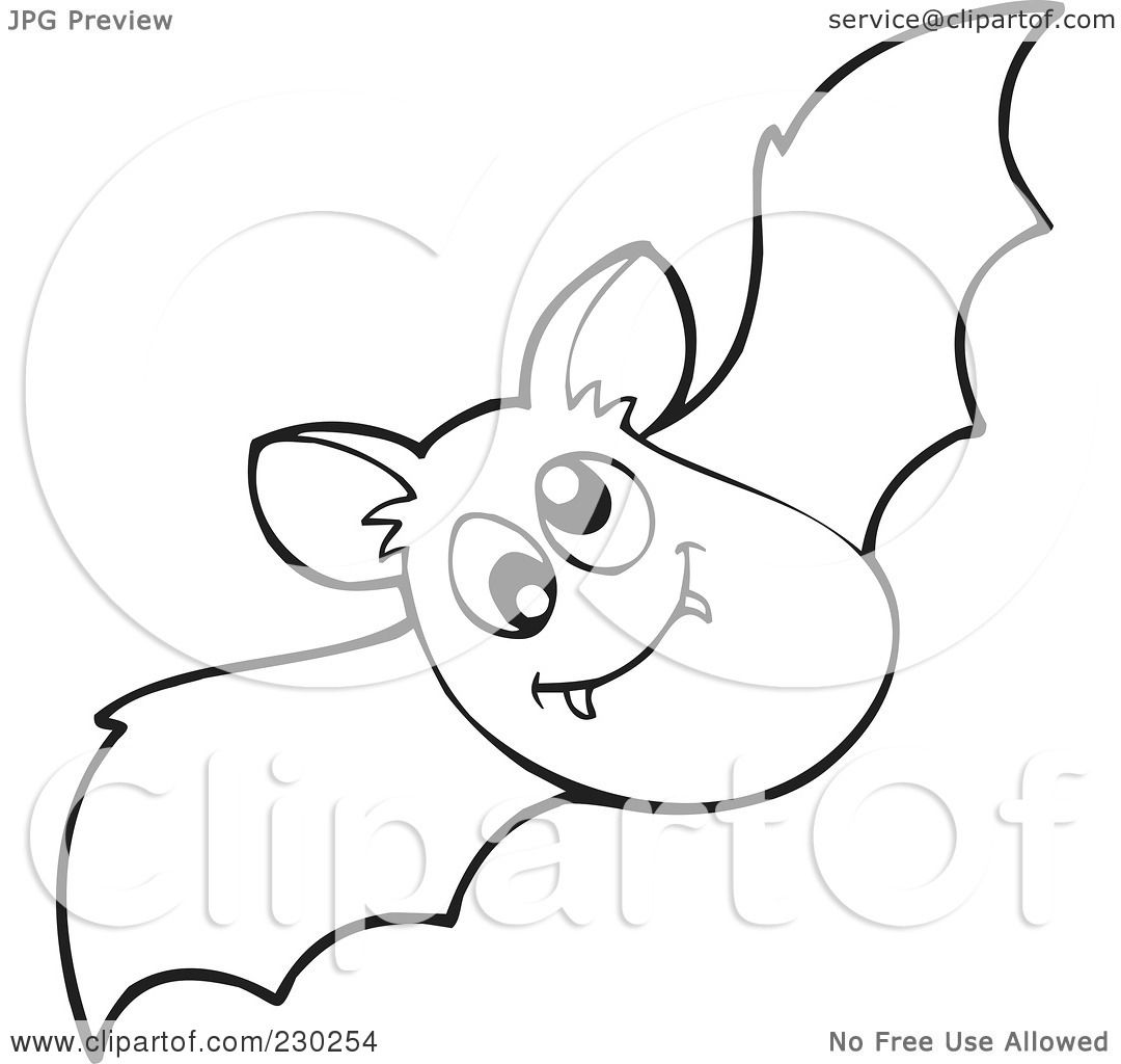 cute bat coloring page of a coloring page outline