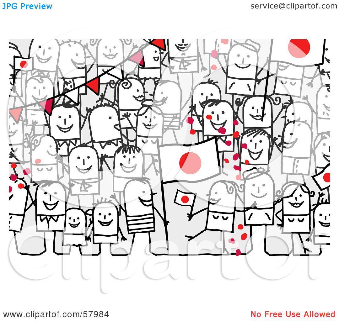 Royalty Free Rf Clipart Illustration Of A Crowd Of Stick