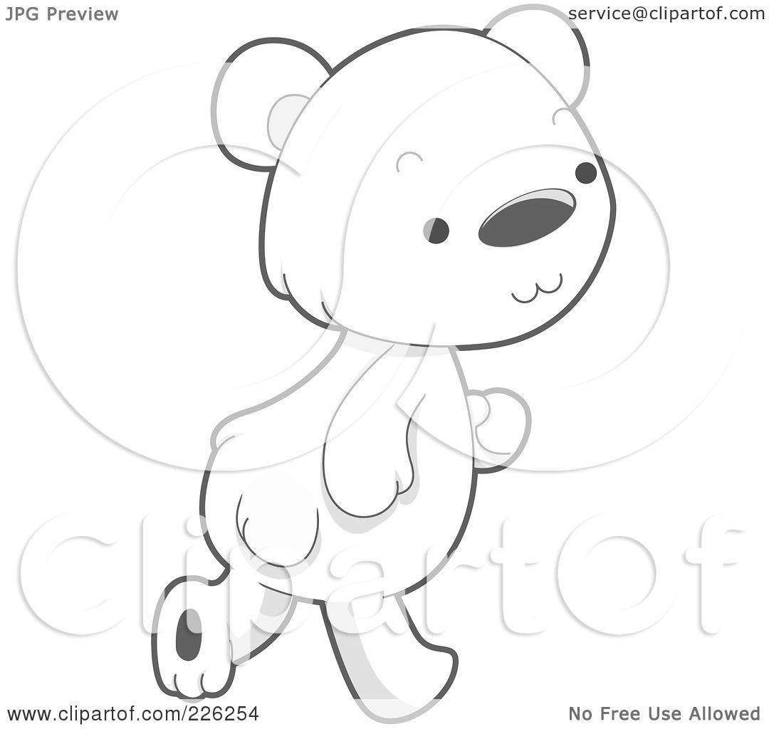 Royalty Free Rf Clipart Illustration Of A Cute Baby Polar Bear Walking By Bnp Design Studio